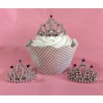 Mini Tiara Cupcake Topper (pkg of 12)
