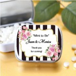 Personalized Black & White Stripe Mint Tins (Kate Spade Inspired) (SET OF 12)