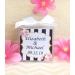 Kate Spade Inspired Personalized Wedding Candle