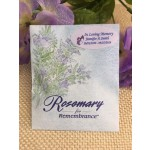 Personalized Rosemary Memorial Packets (Set of 50)