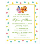 Winnie the Baby Pooh and Friends Baby Shower Invitations (5x7)